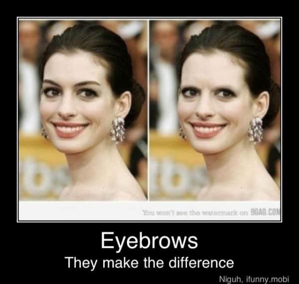 Anne Hathaways øyenbryn
