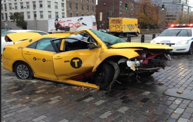 Taxi krasj